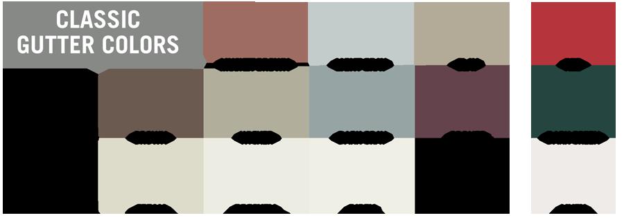 NH Seamless Gutter Colors